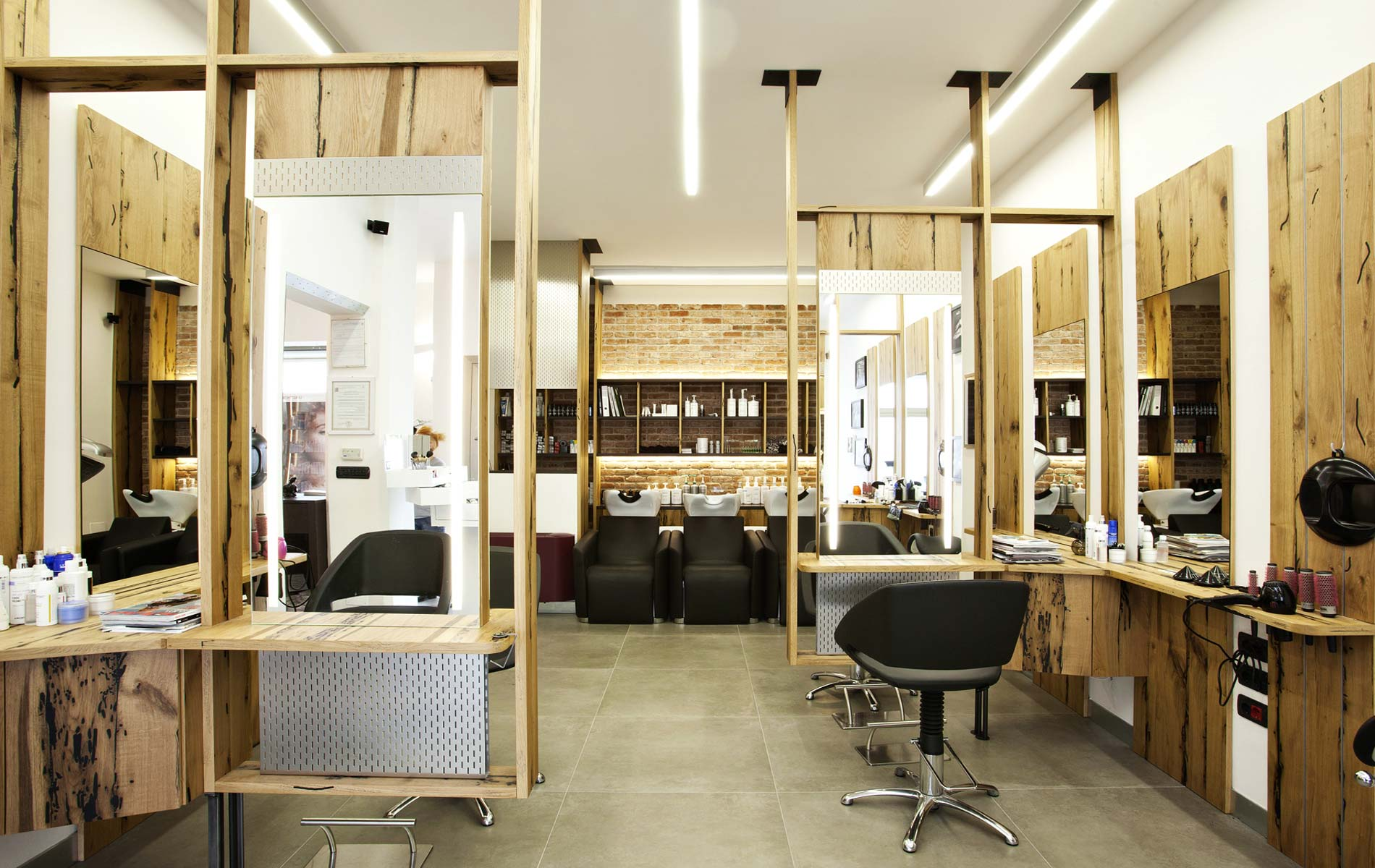 J hair and beauty hair stylist salon interior design by marco giovinazzo
